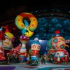 An acrobat performs during the opening ceremony of the 2014 Sochi Winter Olympic Games at Fisht stadium