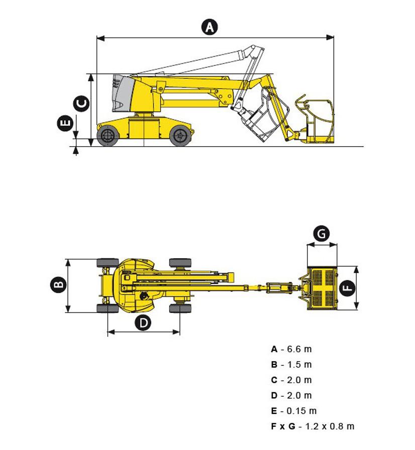 размеры подъемника ha15ip