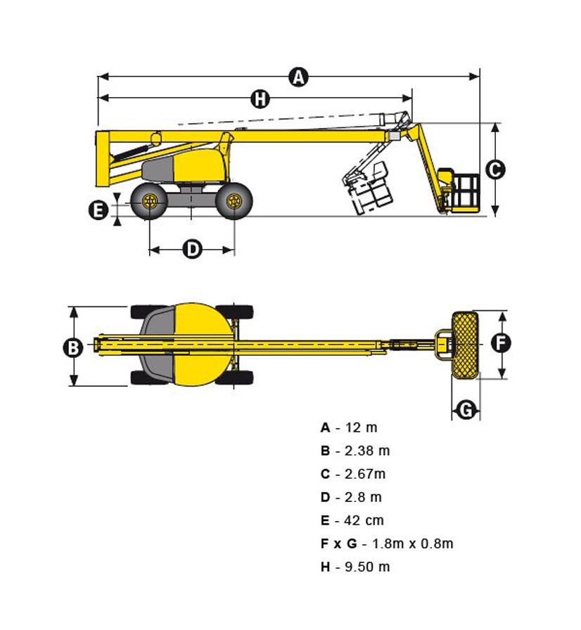 размеры подъемника ha260px
